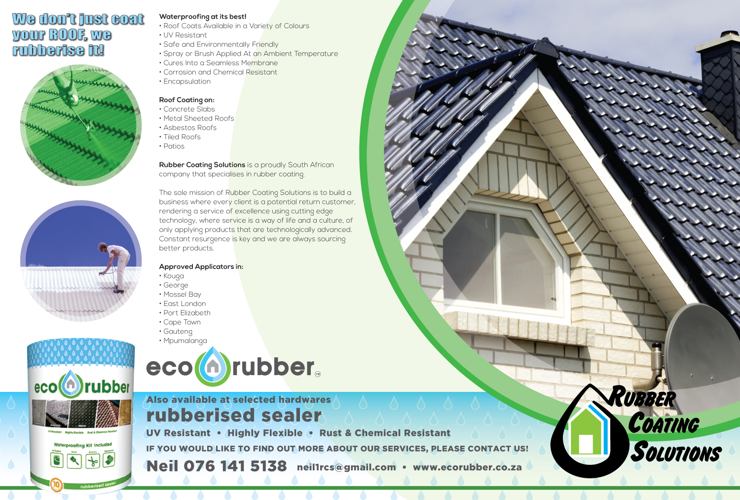 Eco Rubber T A Rubber Coating Jeffreys Bay Roofing
